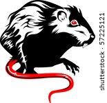 vector illustration of a rat.... | Shutterstock .eps vector #57225121
