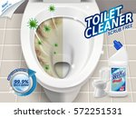 toilet cleaner ads  before and... | Shutterstock .eps vector #572251531