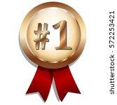 number one on golden winner...   Shutterstock .eps vector #572253421