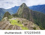 the ancient city of machu... | Shutterstock . vector #572255455