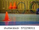interior of a gym at school ... | Shutterstock . vector #572258311