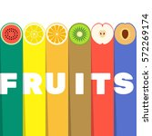 Fruits Slices With Color...