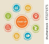start up. concept with icons... | Shutterstock .eps vector #572271571