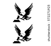eagle logotype bird with hammer