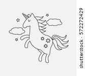 character fabulous unicorn.... | Shutterstock .eps vector #572272429