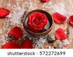 Roses Petals With Pile Of Salt...