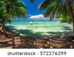 beautiful carribean sea ...   Shutterstock . vector #572276299