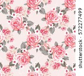 seamless floral pattern with... | Shutterstock .eps vector #572277499