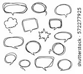 speech or thought bubbles of... | Shutterstock .eps vector #572277925