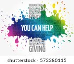 you can help word cloud collage ... | Shutterstock .eps vector #572280115