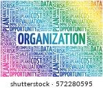 organization word cloud collage ... | Shutterstock .eps vector #572280595