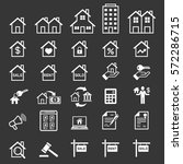 real estate icons. vector... | Shutterstock .eps vector #572286715