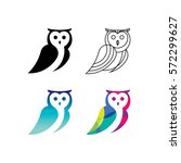 Stock vector  owl logo set 572299627