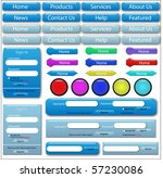vector of web forms and buttons | Shutterstock .eps vector #57230086