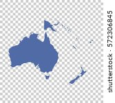 map of oceania on isolated...   Shutterstock .eps vector #572306845