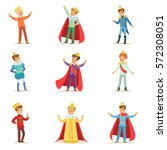 little boys in prince costume... | Shutterstock .eps vector #572308051