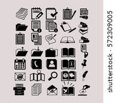document icons | Shutterstock .eps vector #572309005