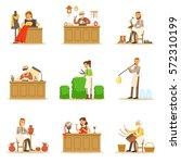 artisan craftsmanship masters ... | Shutterstock .eps vector #572310199