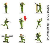 infantry soldiers in full... | Shutterstock .eps vector #572310301