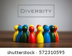 diversity concept with pawn... | Shutterstock . vector #572310595