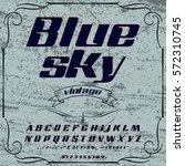 script  font  typeface blue sky ... | Shutterstock .eps vector #572310745
