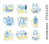 natural milk and fresh dairy... | Shutterstock .eps vector #572311351