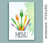 menu card design template.... | Shutterstock .eps vector #572311501
