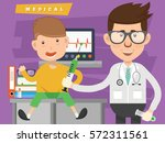 doctor and medical concept... | Shutterstock .eps vector #572311561