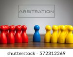 arbitration concept with pawn...   Shutterstock . vector #572312269