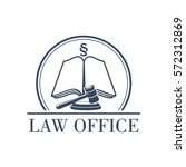 legal office icon with symbol...