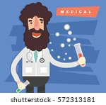 doctor and medical concept... | Shutterstock .eps vector #572313181