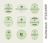 happy saint patricks day retro... | Shutterstock .eps vector #572313409