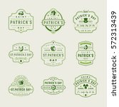 happy saint patricks day retro... | Shutterstock .eps vector #572313439