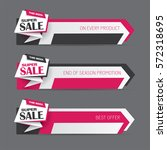 banner set with promotional...   Shutterstock .eps vector #572318695