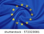 european union flag with fabric ... | Shutterstock . vector #572323081