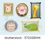 illustration of cute cartoon... | Shutterstock .eps vector #572328544