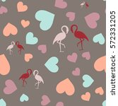 seamless pattern with hearts...   Shutterstock .eps vector #572331205