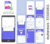 material design  ui  ux  gui... | Shutterstock .eps vector #572331811