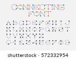font set design using dot and...   Shutterstock .eps vector #572332954
