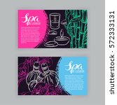 two beautiful banners of sketch ... | Shutterstock .eps vector #572333131
