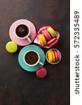 Colorful Macaroons. Sweet...