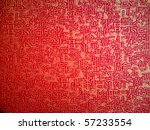 Closeup Texture Of Red Paper...