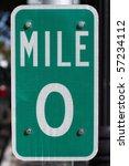 Mile 0 In Key West