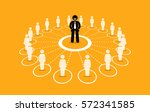 business network and... | Shutterstock .eps vector #572341585