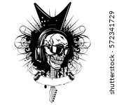 vector illustration skull and... | Shutterstock .eps vector #572341729