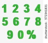 set of green 3d figures and... | Shutterstock .eps vector #572341831