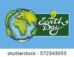 earth day. vector illustration...   Shutterstock .eps vector #572343055
