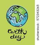 earth day. vector illustration... | Shutterstock .eps vector #572343265