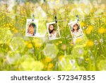 summer background. mother and... | Shutterstock . vector #572347855