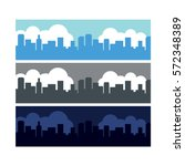 city scenes various times of day | Shutterstock .eps vector #572348389